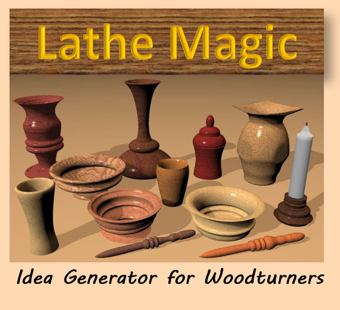 Idea Generator for Woodturners - Quickly create designs for bowls, cups, vases, pens and many other items made from wood